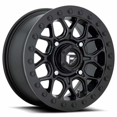 Fuel Offroad D916 Tech Beadlock UTV Wheel 15X7 4X137 Matte Black D9161570A654