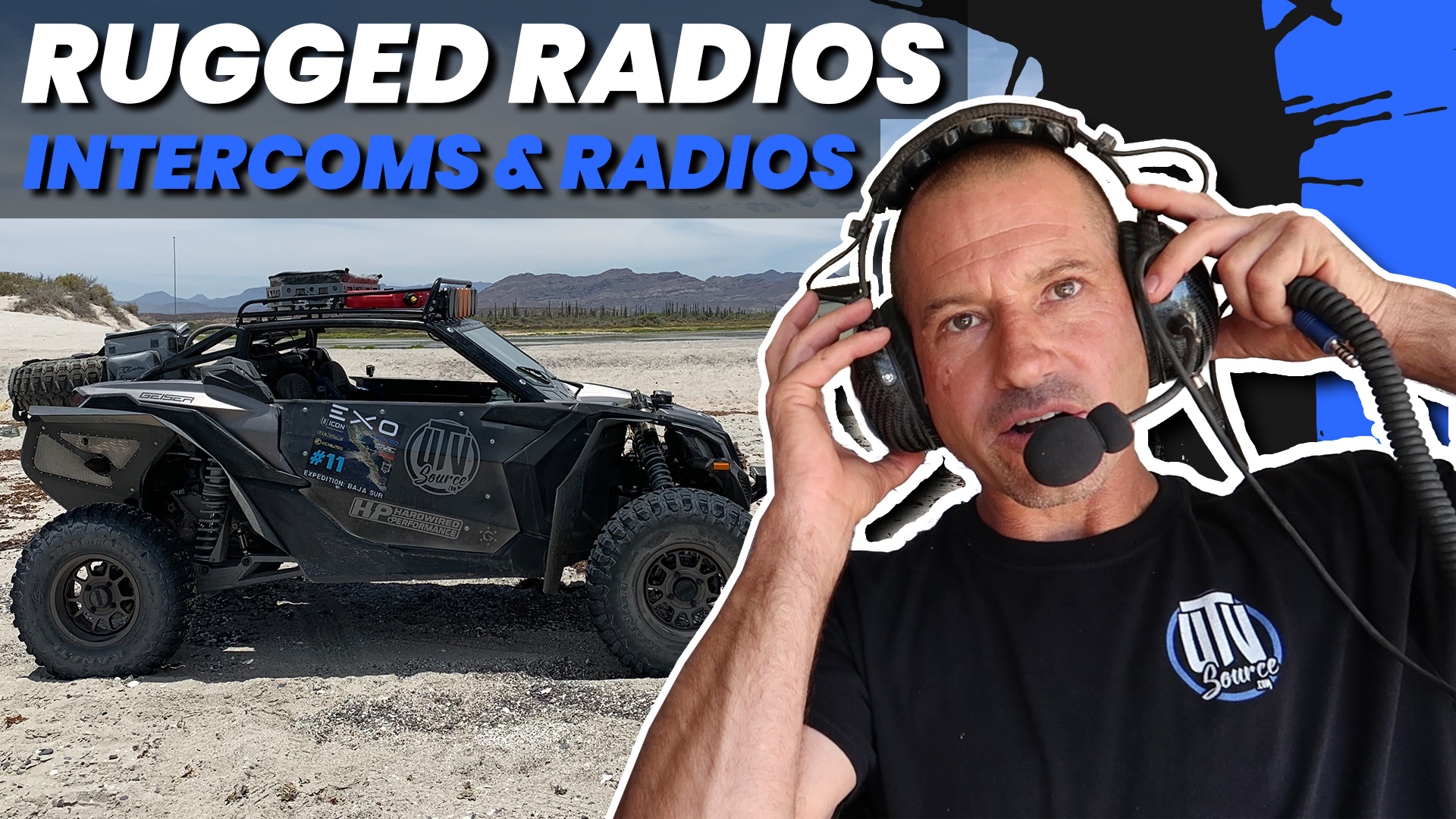 Includes Behind the Head Headsets and Intercom Cables Rugged Radios RRP362 Intercom 2 Place Kit with Built-In Push to Talk Buttons