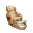 Pedicure Chair Deluxe #45 Beige & Gold/Silver