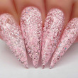 Gel Polish Nail Swatch - G496 Pinking Of Sparkle