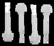 Kiara Sky 4-Pack Replacement Brushes