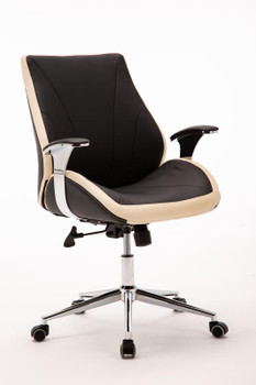 Customer Chair GY017 - Black Front Side