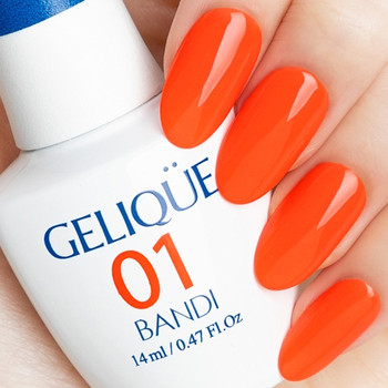 Gelique  - GF649 Surfing Orange Swatch