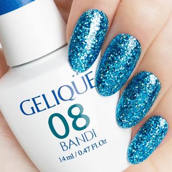 Gelique - GP450 Sparkling Aqua Swatch