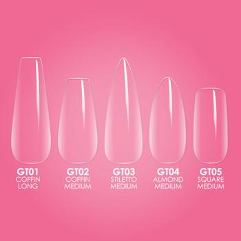 Gelly Tip Kit - GK02 Medium Coffin + Flash Cure Lamp