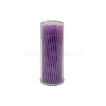 Micro Applicator Brush Purple 1.5mm Ultra Fine 100pc