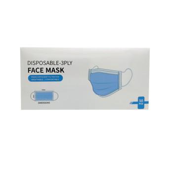 Disposable Face Mask Blue 50pc