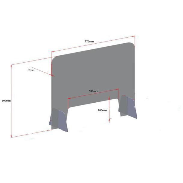 Clear Acrylic Table Shield Sneeze Guard Screen Wide