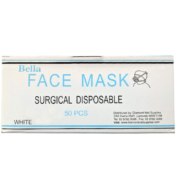 Bella Face Mask Surgical Disposable White