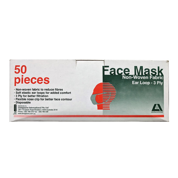 Livingstone Face Mask Non Woven Fabric 3 Ply