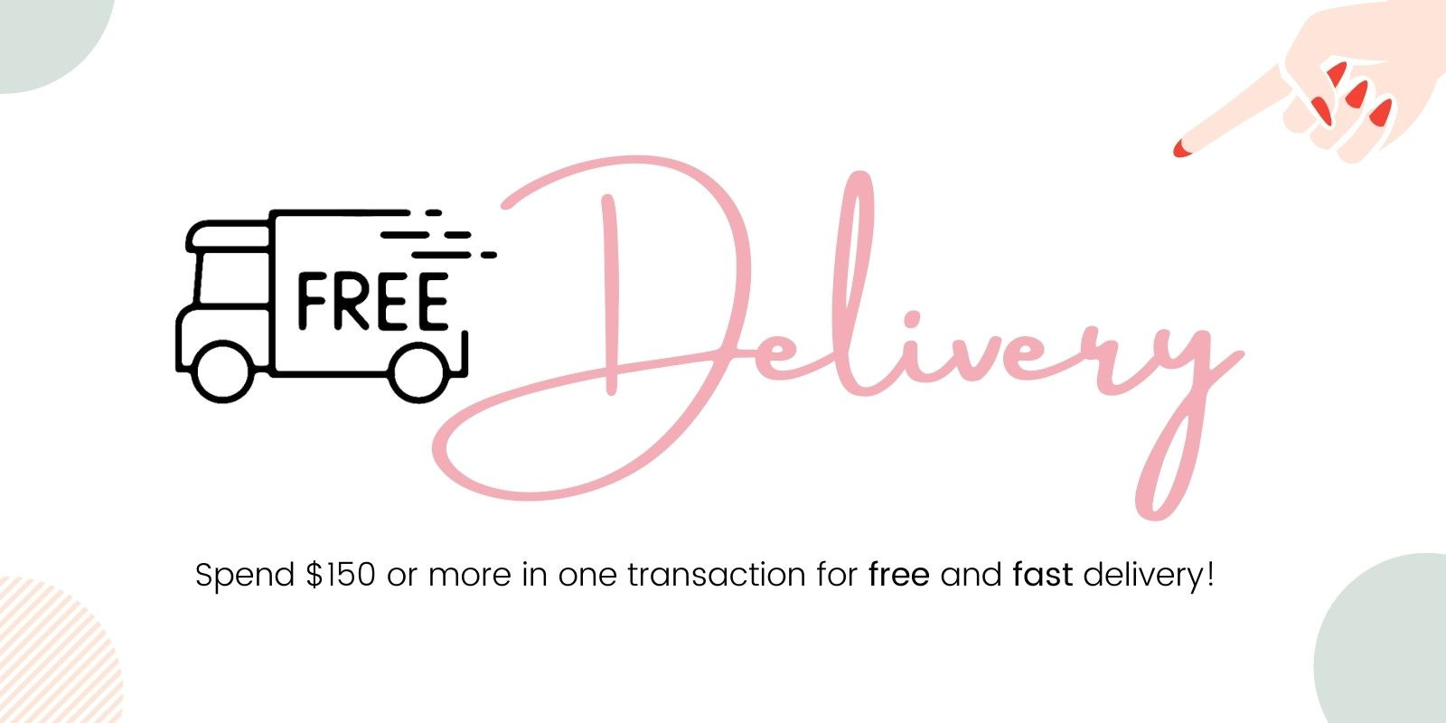free delivery for nail supplies