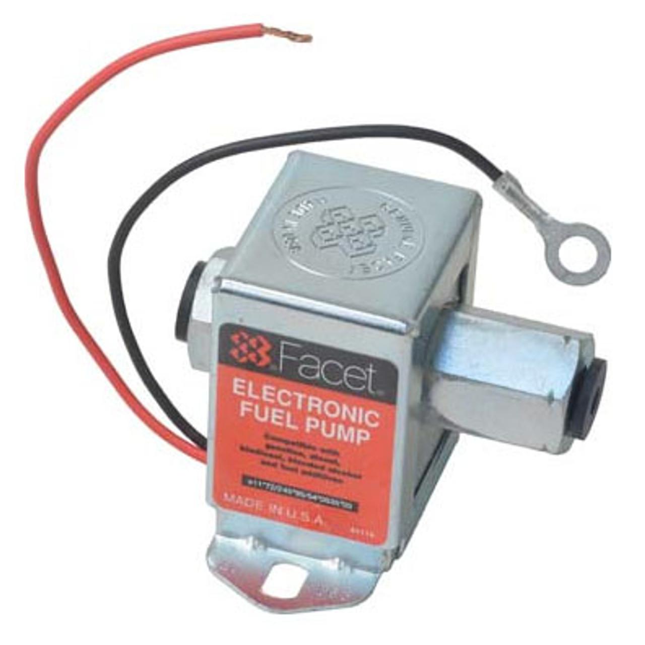 40163 Facet Cube Solid State Fuel Pump, 12 Volt, 1.5-2.5 PSI, 17 GPH