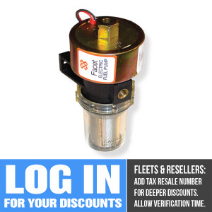40222 Facet Dura-Lift Fuel Pump, 12 Volt, 9.0-11.5 PSI, 33 GPH