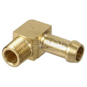 """42733 Facet Barb Elbow 1/4"""" Fuel Fitting, Brass"""