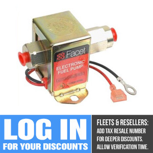40189 Facet Cube Solid State Fuel Pump, 12 Volt, 3.5-5.0 PSI, 15 GPH