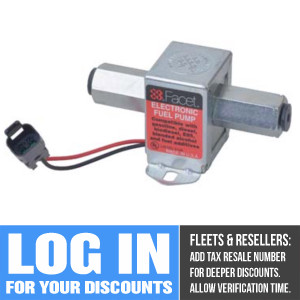 40304 Facet Sold State Cube Fuel Pump, 12 Volt, 12.0-15.0 PSI, 50 GPH