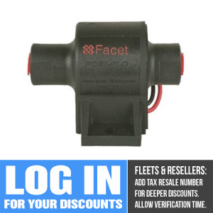 60202 Facet Posi-Flo Fuel Pump, 12 Volt, 7.0-10.0 PSI, 35 GPH