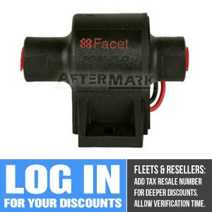 60207 Facet Cube Solid State Fuel Pump, 12 Volt, 5.0-7.0 PSI, 32 GPH