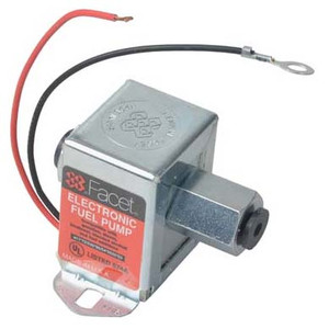 40106 Facet Cube Solid State Fuel Pump, 12 Volt, 4.0-7.0 PSI, 32 GPH