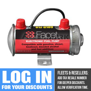 40131E Facet Gold-Flo Fuel Pump, 12 Volt, 4.0-5.5 PSI, 34 GPH