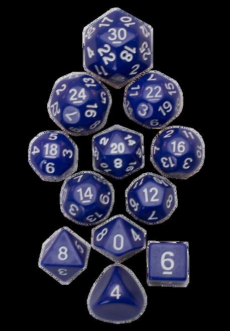 12pc Tiered Dice Set - Blue