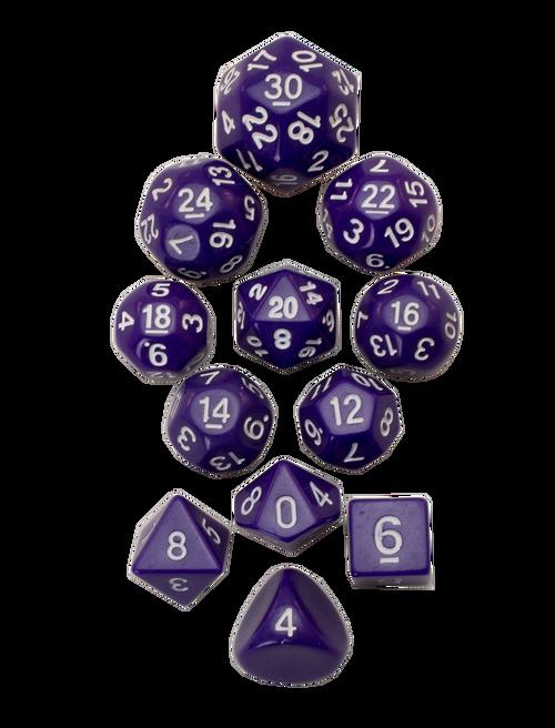 12pc Tiered Dice Set - Purple