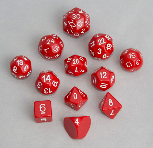 12pc Tiered Dice Set - Red