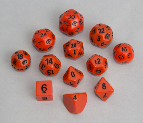 12pc Tiered Dice Set - Orange
