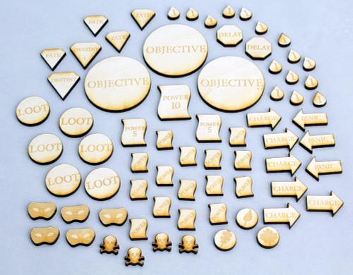 Freeblades Player Token Set (Wooden)