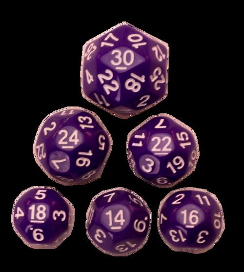 Dice Set - Purple, 6 pc Upgrade