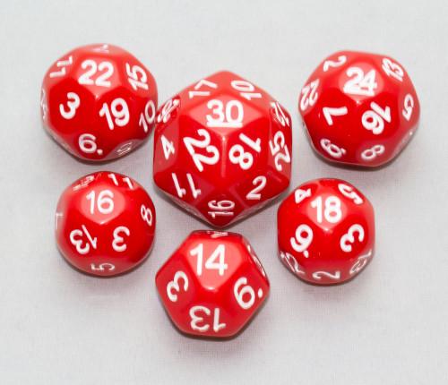 Dice Set - Red, 6 pc Upgrade