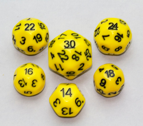 Dice Set - Yellow, 6 pc Upgrade