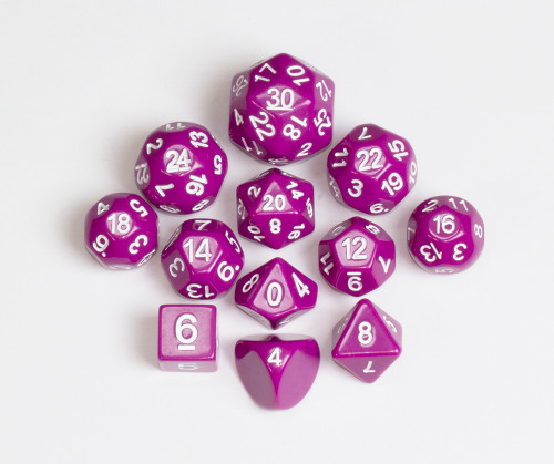 12pc Tiered Dice Set - Magenta