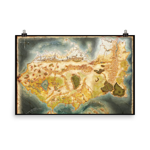 Large Faelon Map Poster (northern half)