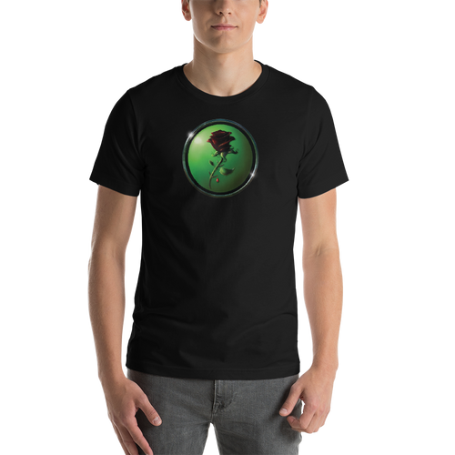 Black Rose Short-Sleeve Unisex T-Shirt