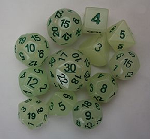 12pc Tiered Dice Set - Glow-in-the-Dark LIMITED