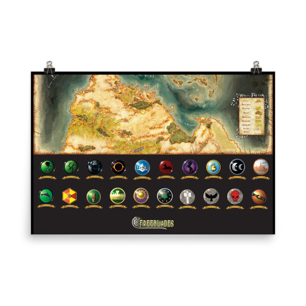 Large Faelon Map Poster - southern half