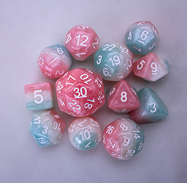 12pc Tiered Dice Set - Cotton Candy LIMITED