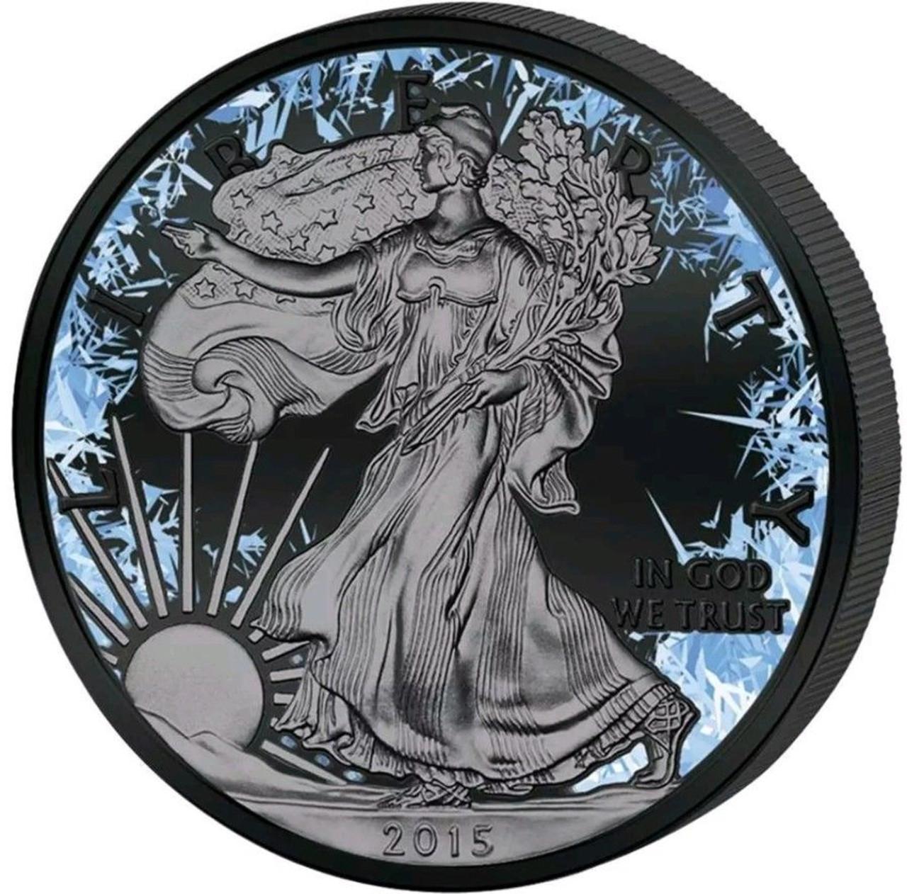2018 Arctic Blast 1 oz fine silver American Eagle Coin Black Ruthenium