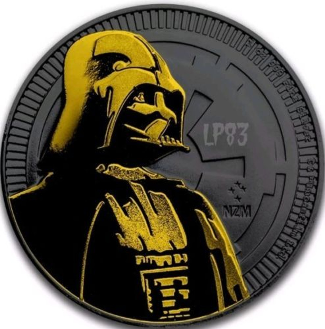 2018 NIUE 1oz Silver Coin STORMTROOPER Star Wars w// BLACK RUTHENIUM /& 24KT Gold