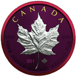 2021 1 Oz Silver $5 Canadian SPACE METALS II MAPLE Numbered Coin.