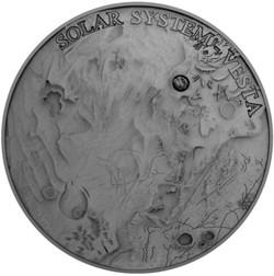 2017 1 Oz Silver Niue $1 GOSSES BLUFF Meteorite Crater Coin.