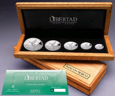2019 Mexico Silver Libertad 4 Piece Fractional Set 1//2,1//4,1//10,1//20 oz .9 oz.