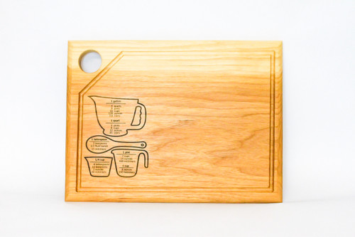 Cutting Board with Cooking Conversions