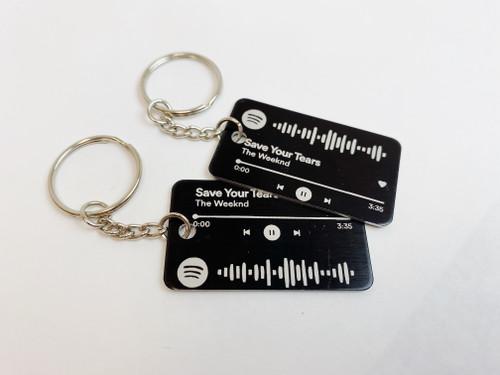 Metal Personalized Spotify Keychain
