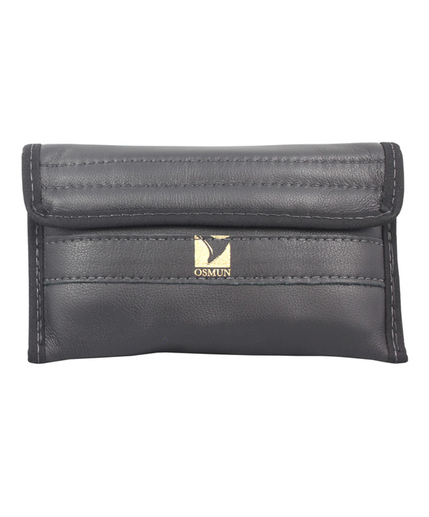 Quad Trumpet Mouthpiece Pouch in Leather