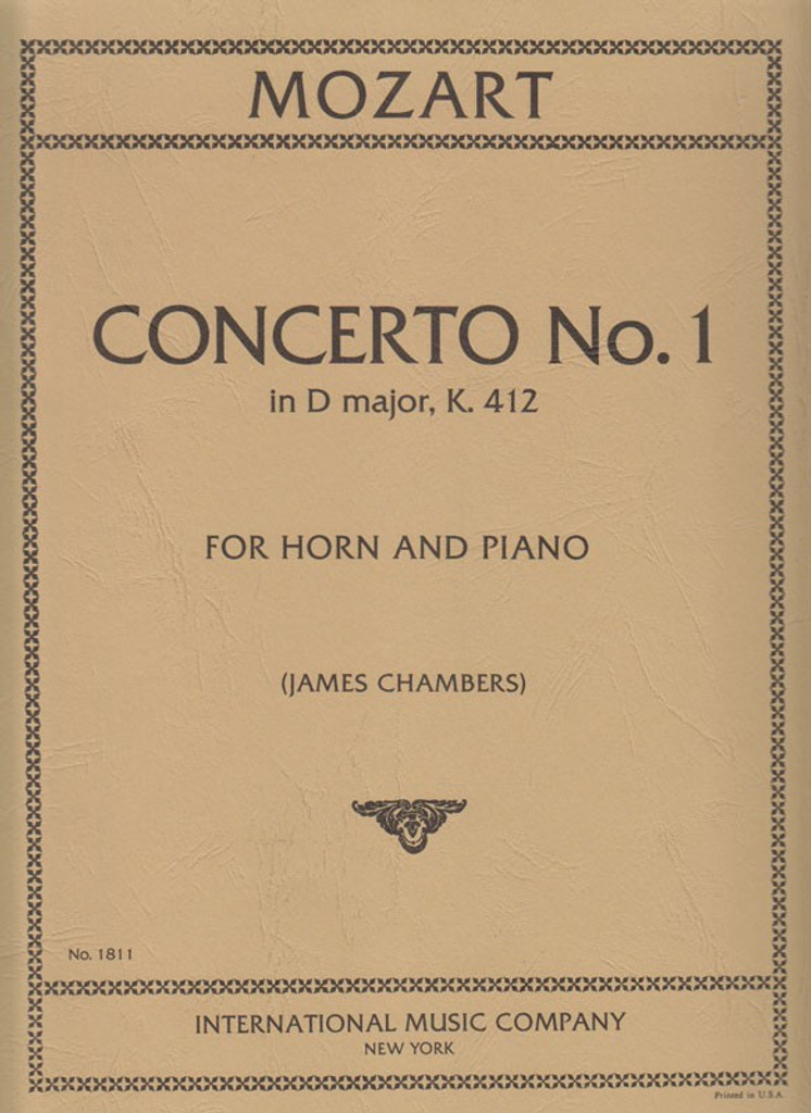 Mozart, Concerto No.1 for French Horn