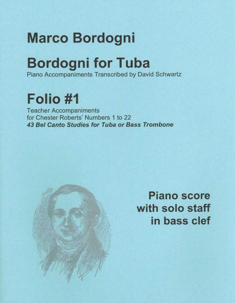 Bordogni for Tuba, Folio 1