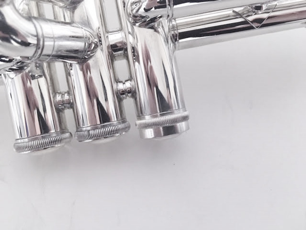 Bach Heavy Trumpet Valve Caps in Silver