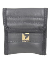 Horn Double Mouthpiece Pouch in Leather